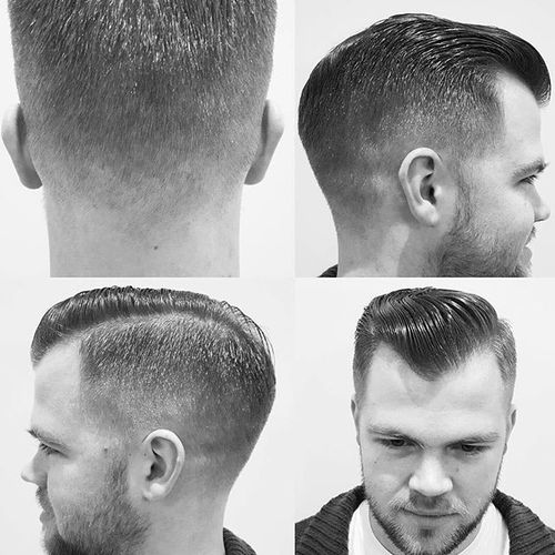 Asymmetrical High and Tight Cut