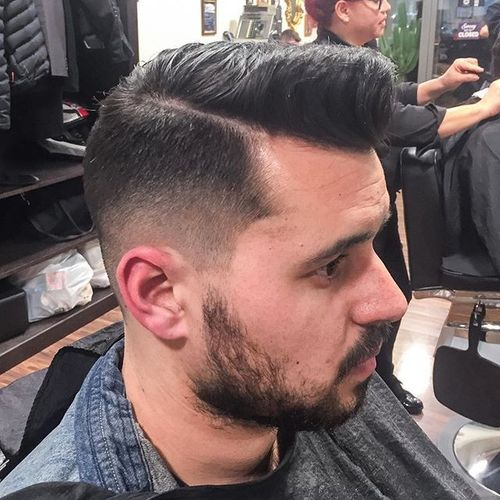 Side Part with Fade