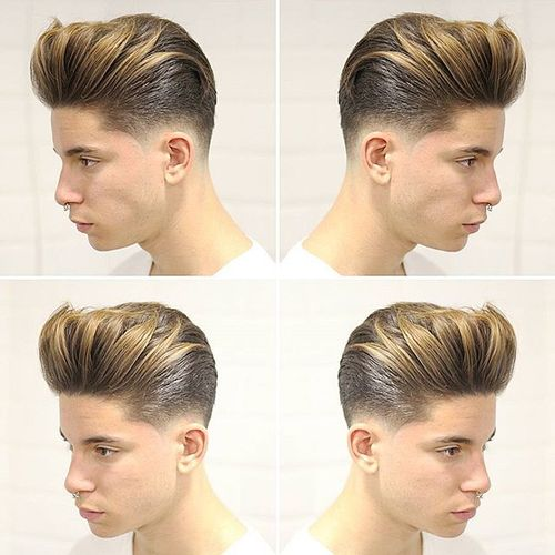 Stylish Textured Quiff Haircut 2