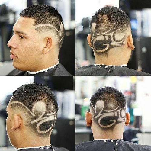 Creative Buzz Cuts With Art Design 4