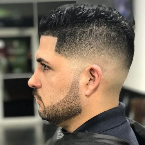Superb Temple Taper Fade Haircut