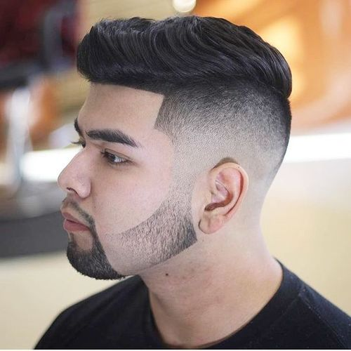 taper fade with bangs
