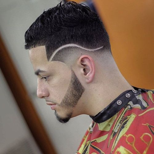 Tapered Undercut for Thick Hair