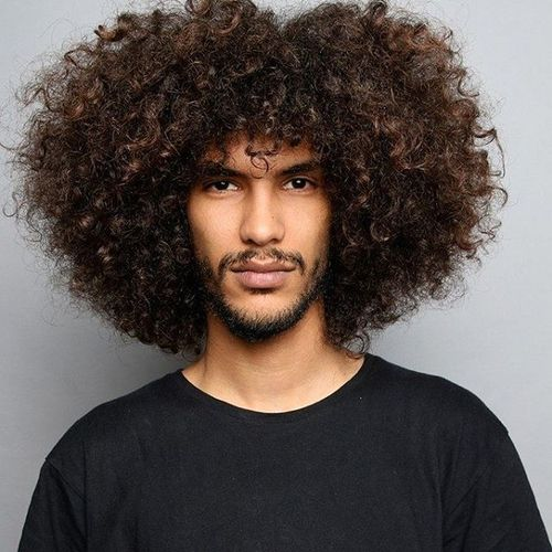 Fluffy Hairstyle for Long Curls