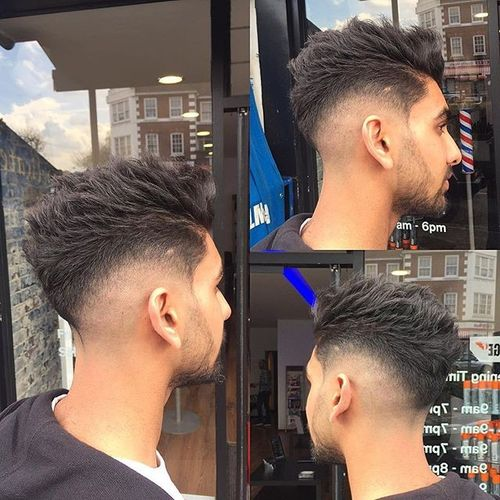 Spiky Short-Sides-Long-Top Hairstyle
