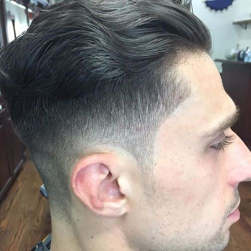 Wavy and Clean Undercut Hairstyle