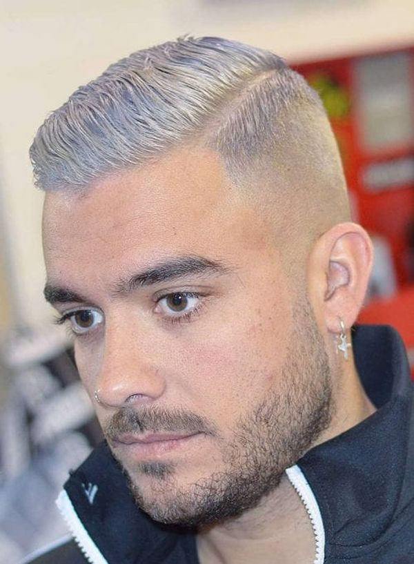 GoodLooking Side Swept Crew Cut Hairstyle 1