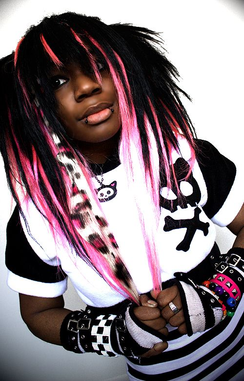 emo hairstyles for black girls