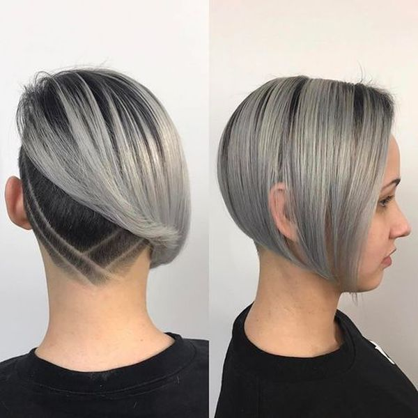 Asymmetrical undercut hairstyles for women 1