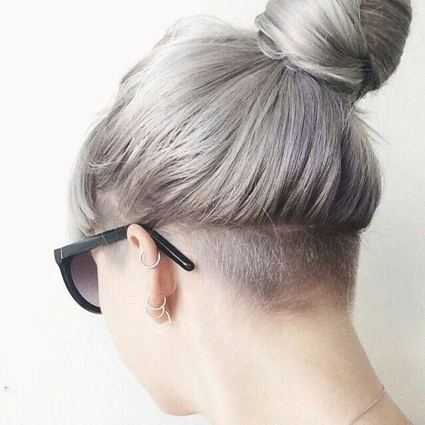 Feminine undercut styles with shaved nape 3