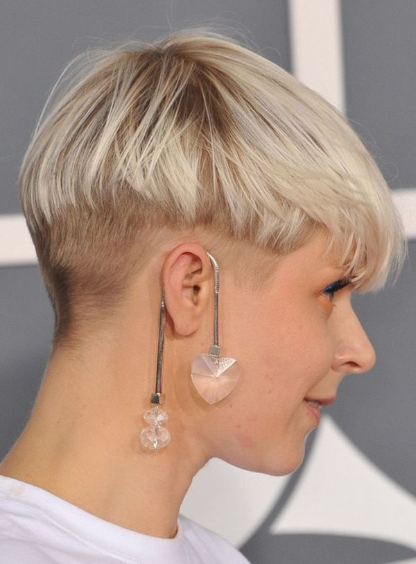 Feminine undercut styles with shaved nape 4