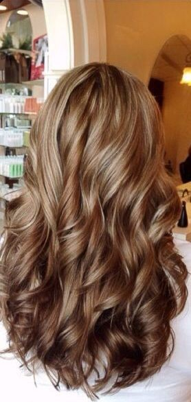 The chai latte hair with chunky blonde highlights