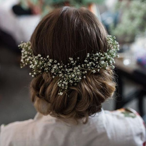 Floral Cascading Updo