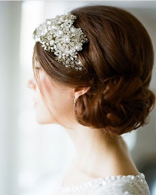 Loose Low-Do with Stunning Headpiece
