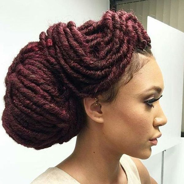 Huge Crochet Chignon Bun Hairstyle