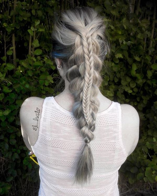 Beauty Triple Stacked Braid Style