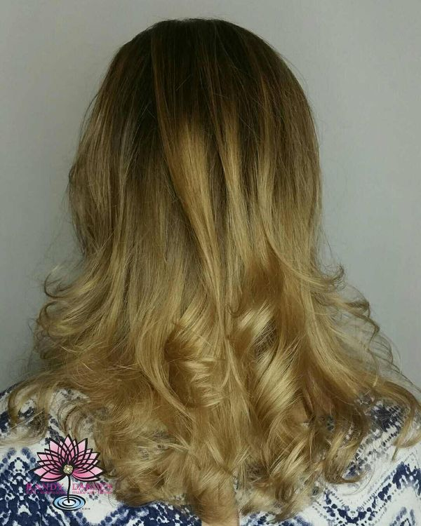 Balayage, Baby-Lights, and Long Layered Cut