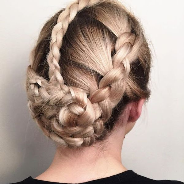 Braided Crown Up-Do Hairstyle