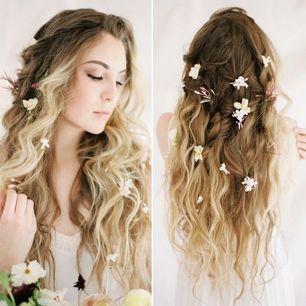 Wavy Sombre Floral Hair