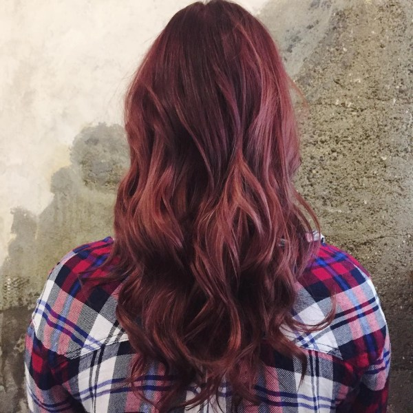 Cerise layered haircut