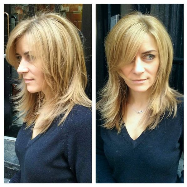"""Classic """"Bob"""" with the side-oriented fringe"""