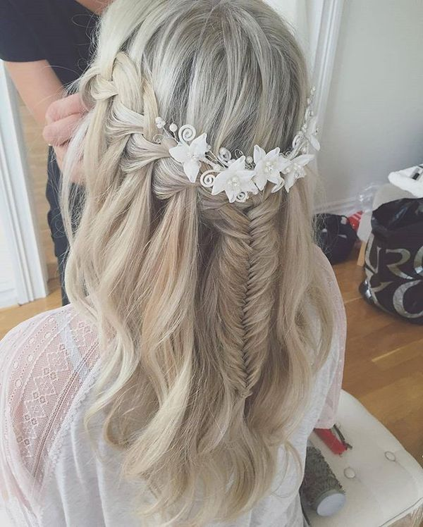 Platinum blonde waterfall