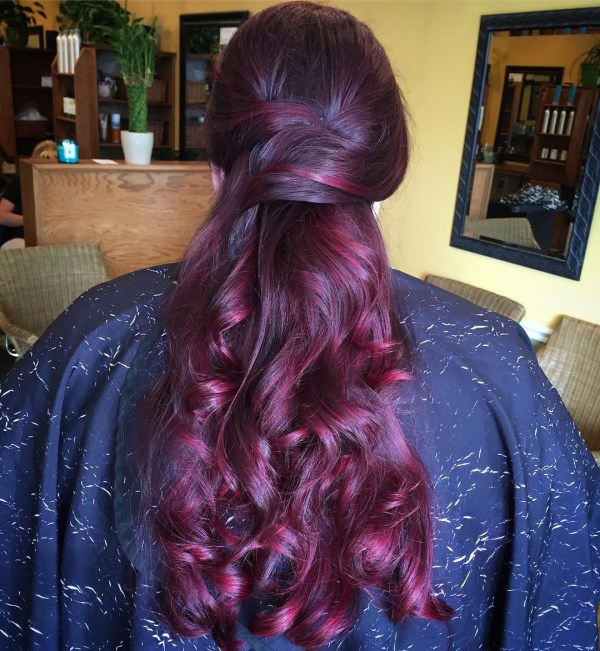 Ruby streaks in stylish purple design