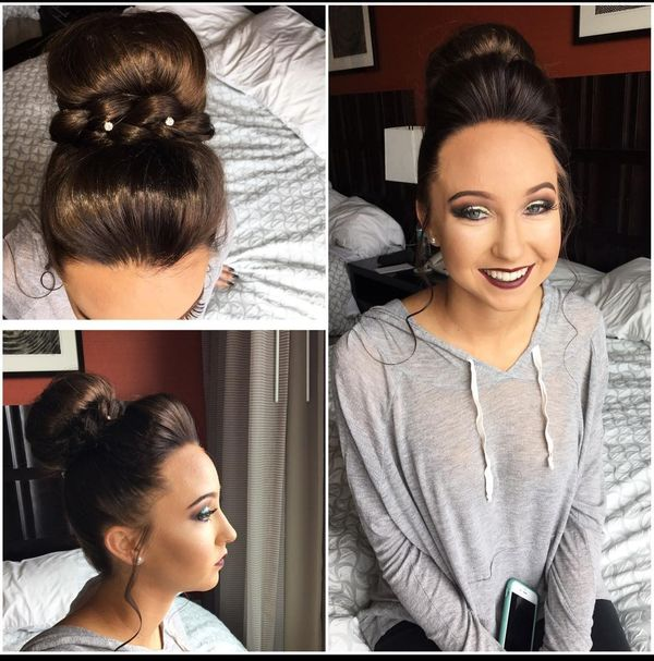 An Oval Face Looks More Elongated Thanks To Curved Side Wisps, A High  Forehead Is Open And The Fringe Is Raised. A Top Bun Is Edged With A Dense  Plait, ...