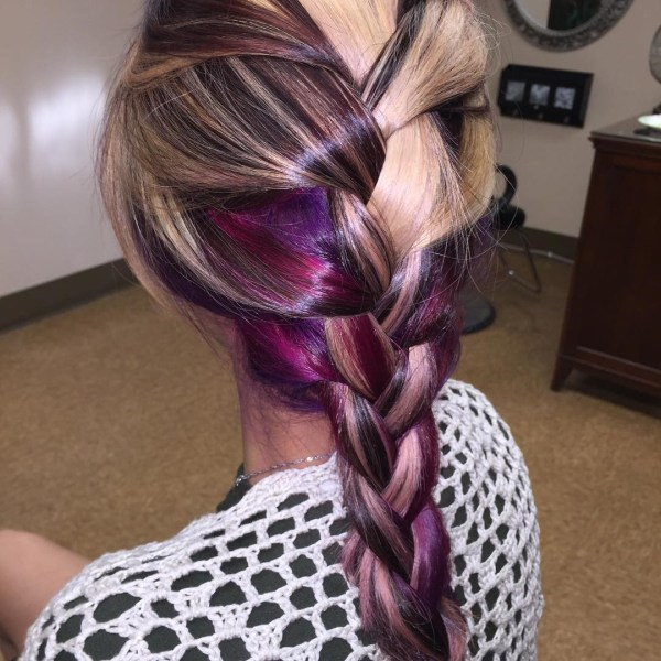 The colored blend in braid
