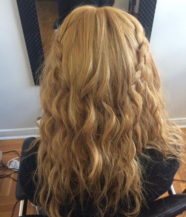 Tousled waterfall curls