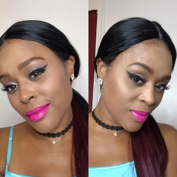 Low Ponytail For Ombre Hair