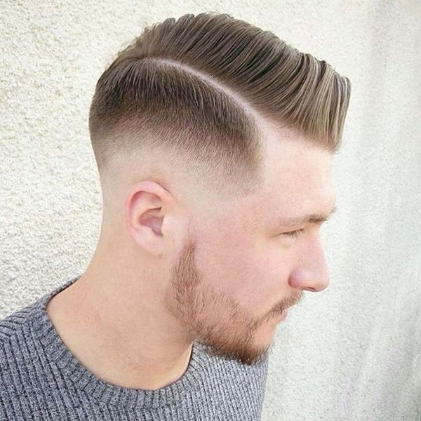 Side Part Pomp with Taper