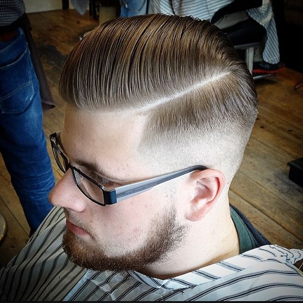 Parted, Pomped And Skinned Slick Back