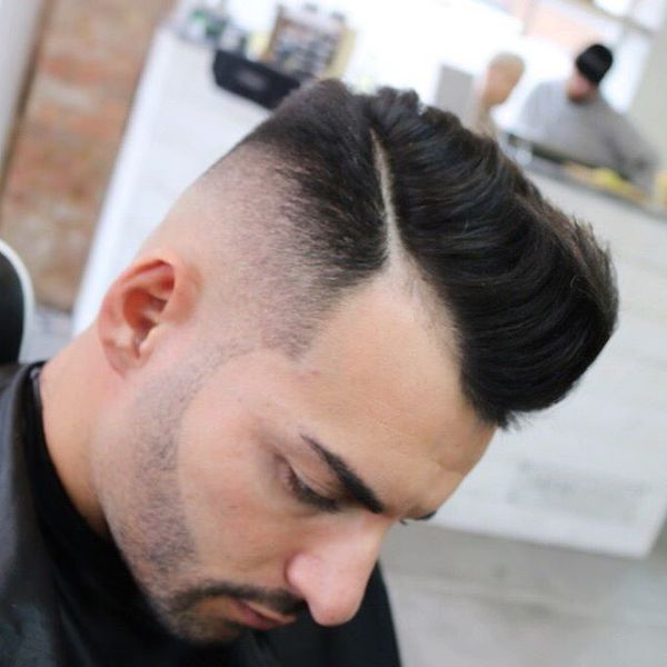 17 Side Part with Beard Fade