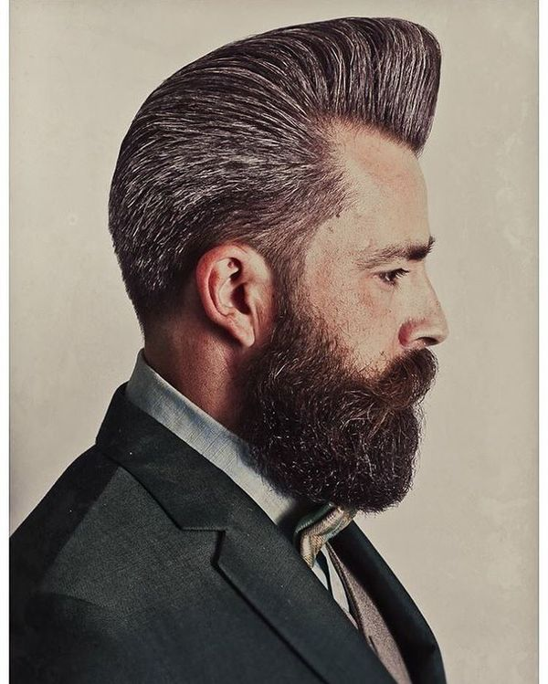 Nice Pomp for Dark Grey Hair