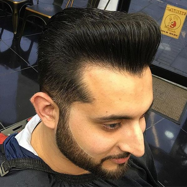 3 Pompadour with Figured Hairline