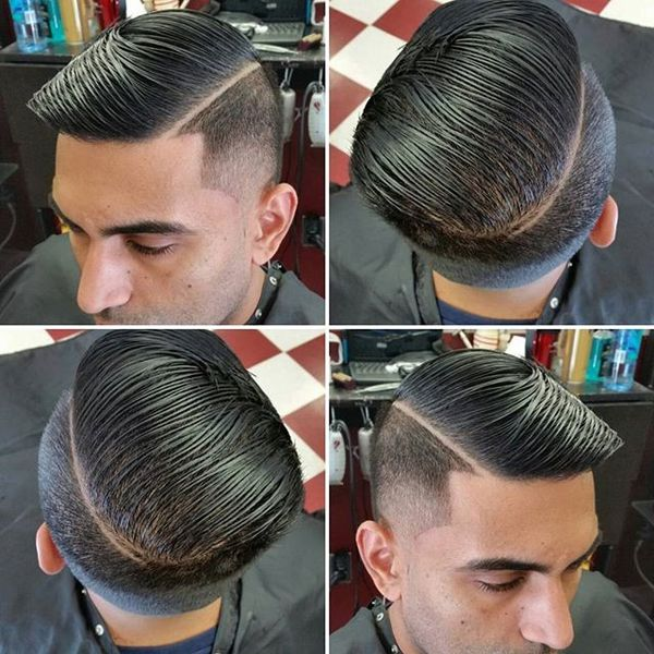 Shadow Fade Combover with Side Part