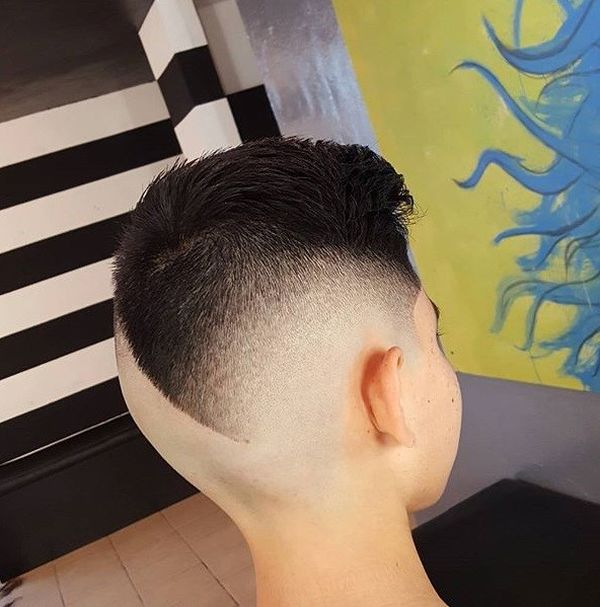 Modern Comb Over with Design