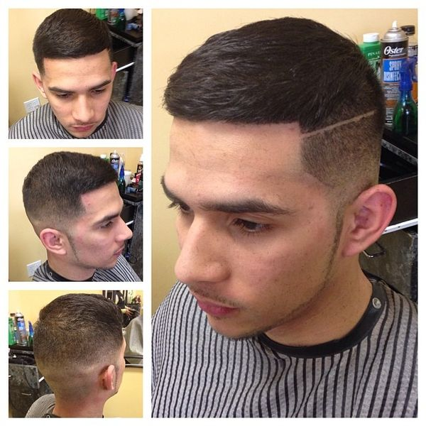 Short Comb-Over With Solid Line