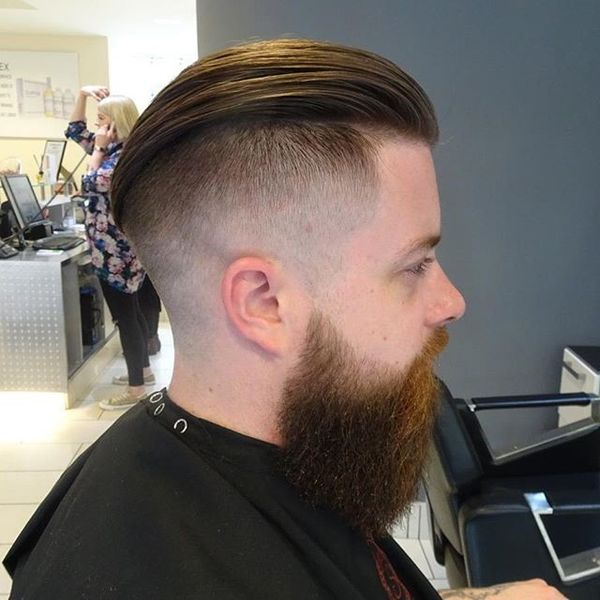 Undercut Fade With A Slick Back