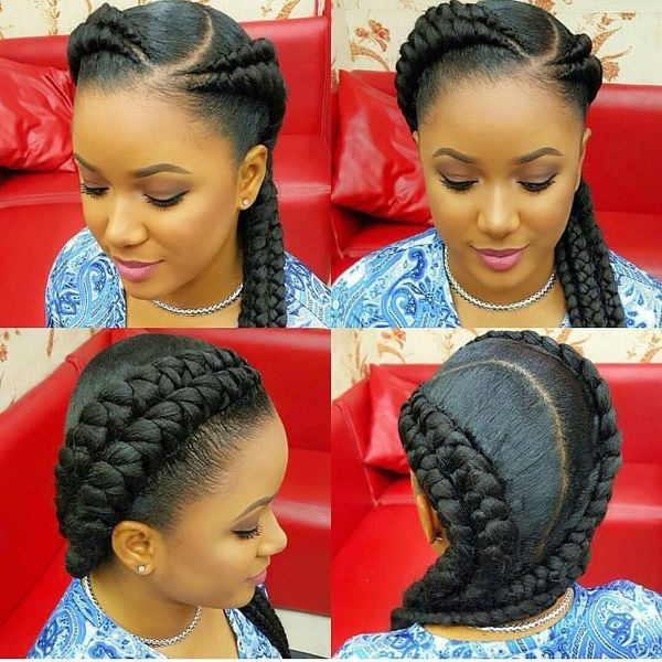 Amazing Boxer Braids with a Side Part