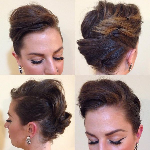 Short Pinned Up Hairstyles 2