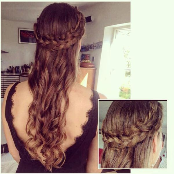 Braided Crown Hairstyle for Long Hair
