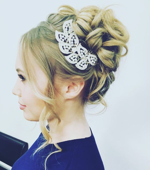 Brilliant Updo with Long Front Locks
