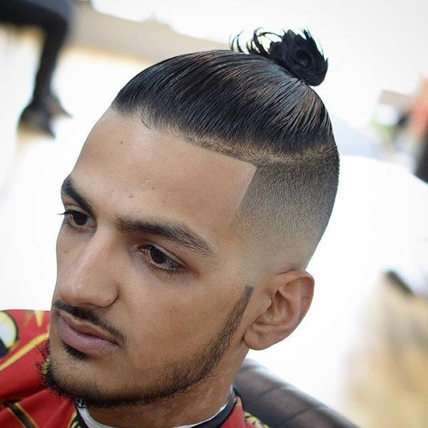 Different manbun styles for short hair 1