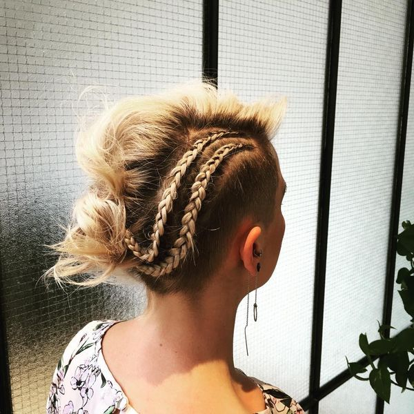 French Braid Twists to Update Your Wavy Hair0