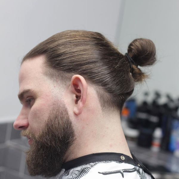 Hipster man bun and beard 1