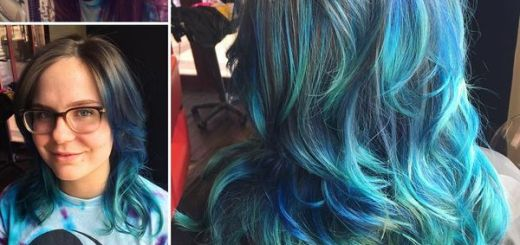 Mermaid Look in Green & Blue