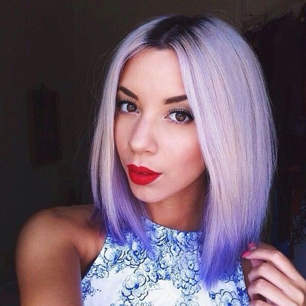 Neon Ombre for Blondes with Dark Roots