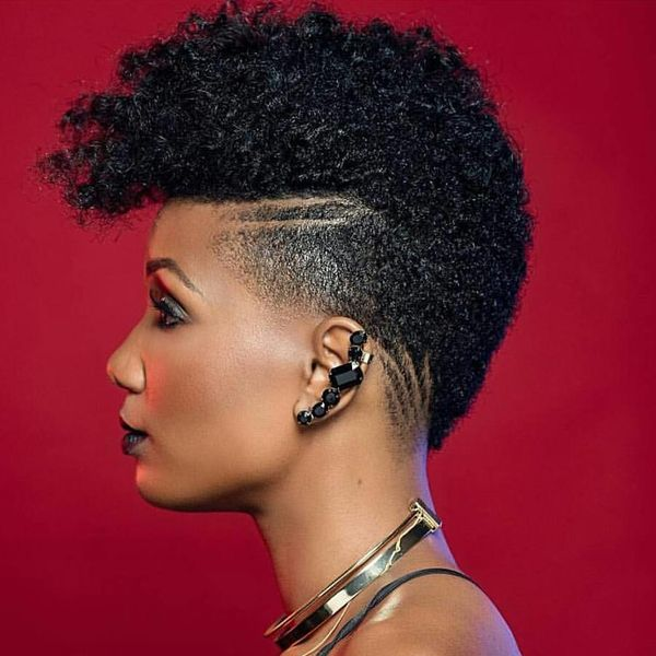 Shaved Sideline to Refresh a Short Afro Style0